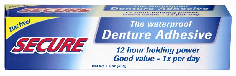 Secure Denture Adhesive, Renew Denture Cleaner